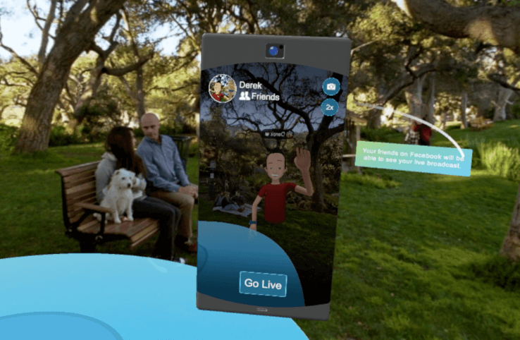 Facebook live Spaces realtà virtuale