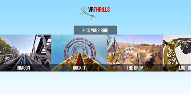 VR Thrills Roller Coaster 360 app virtual reality